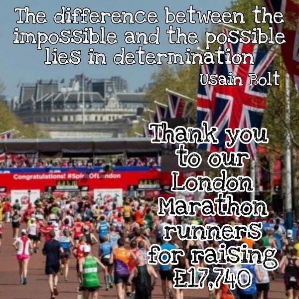 London Mararthon thank you
